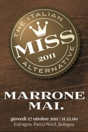 """Marrone mai"" per Miss Alternative 2011"